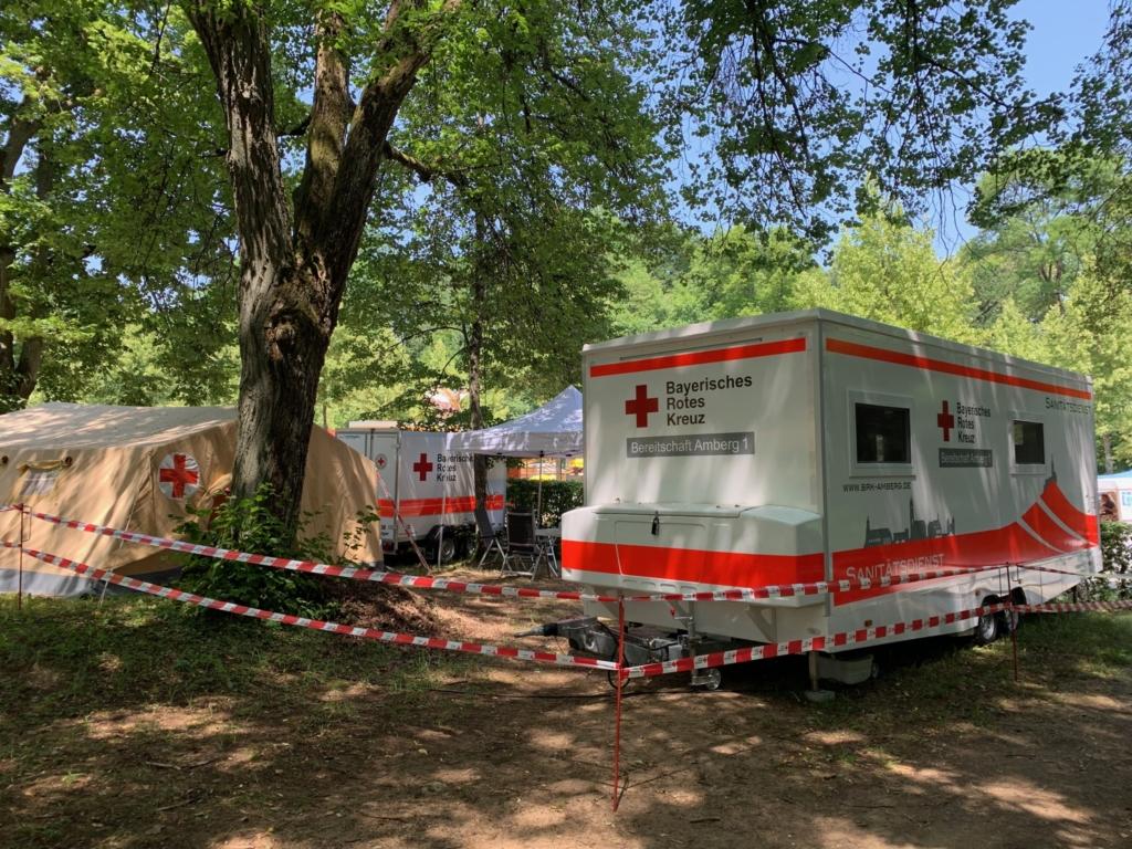 Sanitätsdienst auf dem Amberger Bergfest