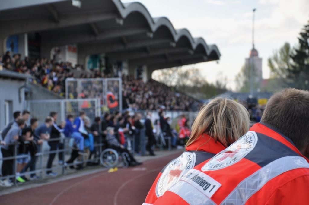 Sanitätsdienst beim FC Amberg