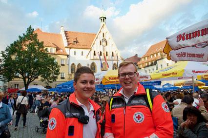 Sanitätsdienst auf dem Amberger Altstadtfest